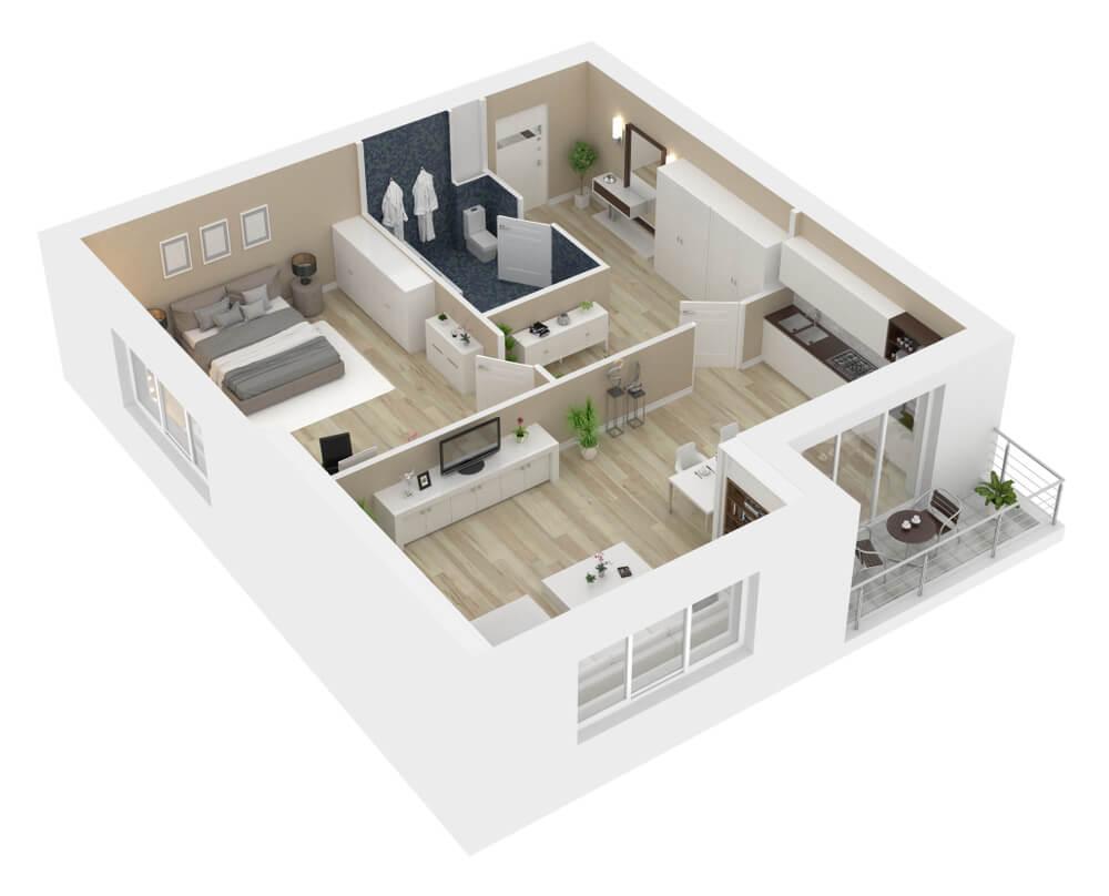 3D vizualizácia bytu online Bratislava Dobrá stavba